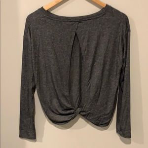 Athleta XS Long Sleeve Crop with Open Back